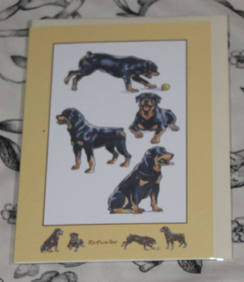 Rottweiler  greetings cards with pictures of the breed